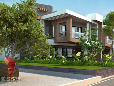 3d Township Rendering House