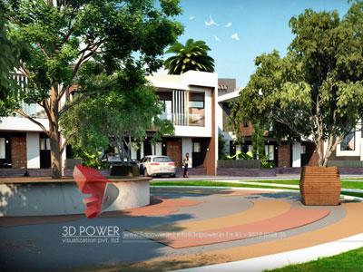 3d Township Rendering Models