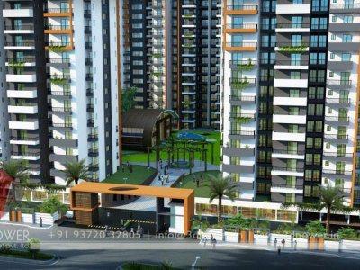 3d Apartment Design Exterior 3d township architectural design rendering | contemporary township