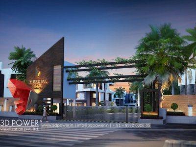 3d-architectural-design-studio-township-night-view